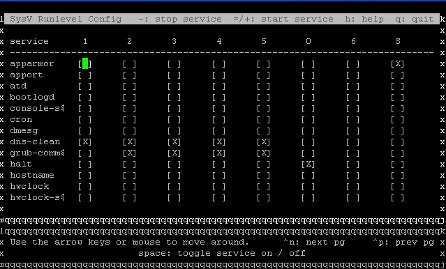使用sysv-rc-conf管理ubuntu启动项