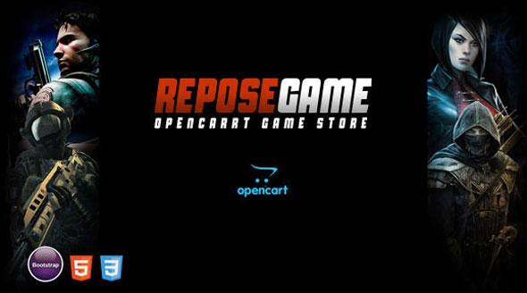 Repose 游戏 OpenCart主题