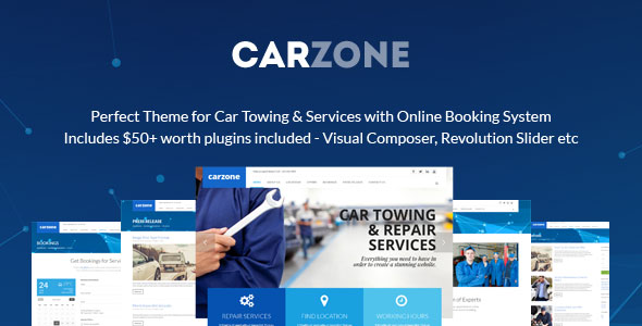 Car Zone 维修 WordPress主题