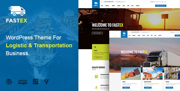 Transport & Logistics 运输物流 WordPress主题